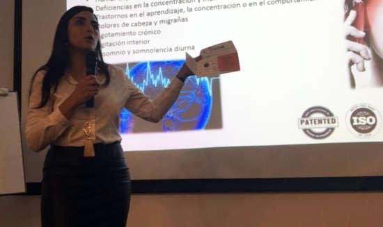 jhamile abuabara representante life maxx colombia placas contra la contaminación electromagneticas