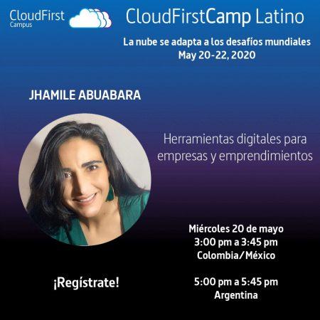 Cloud first camp latino 2020 Tecnologia la nube comunidad Cloud first camp jhamile abuabara